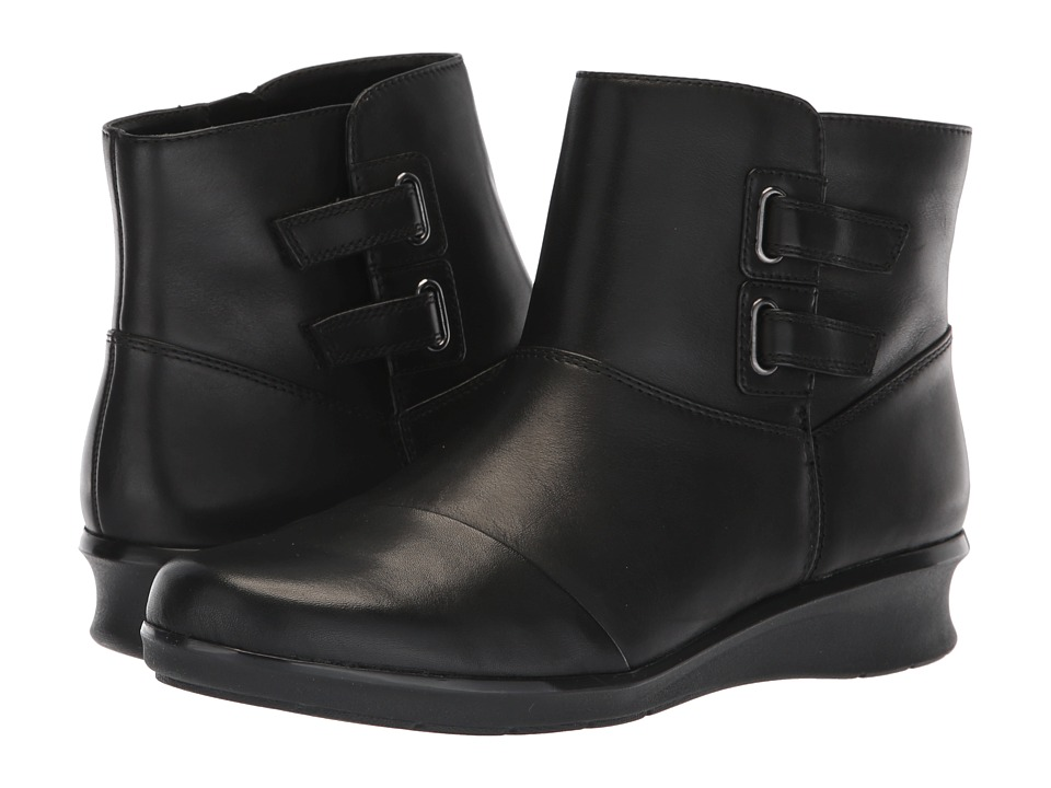 Clarks Hope Cody (Black Leather) Women's Shoes