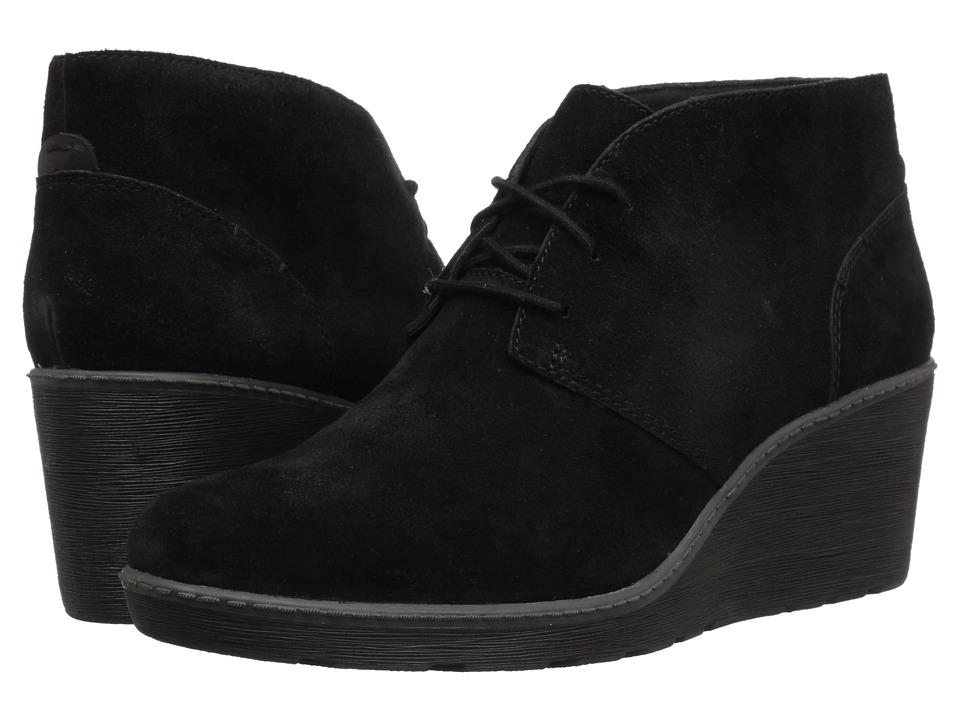 Clarks Hazen Charm (Black Suede) Women's Shoes
