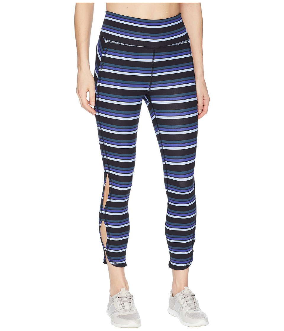Free People Movement - Striped Infinity Leggings (Black) Womens Casual Pants