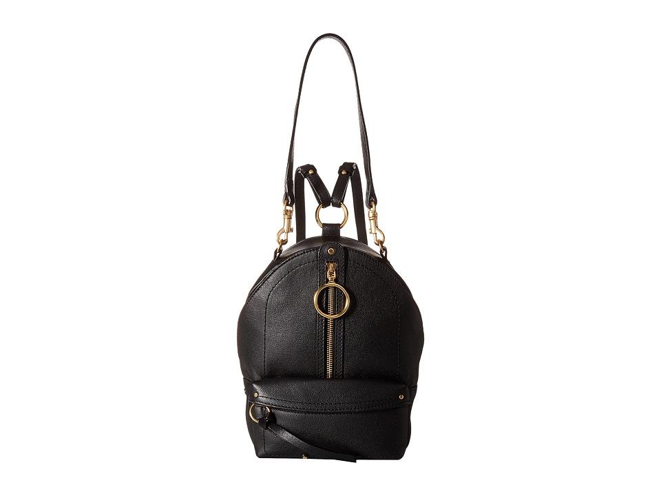 See by Chloe Mini Mino Leather Backpack (Black) Backpack Bags