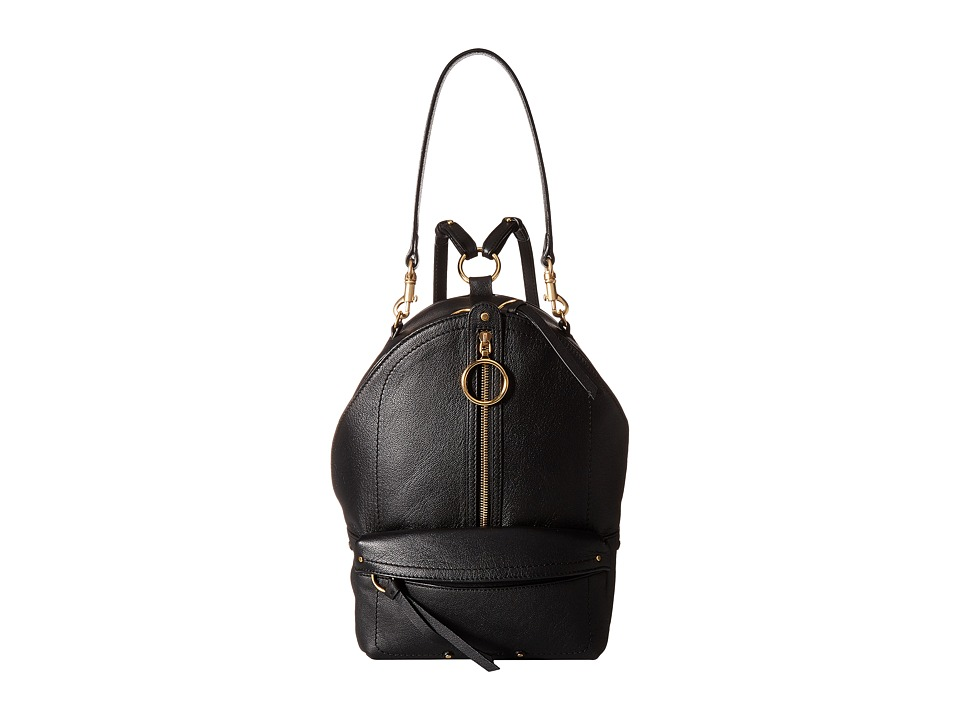 See by Chloe Large Mino Leather Backpack (Black) Backpack Bags