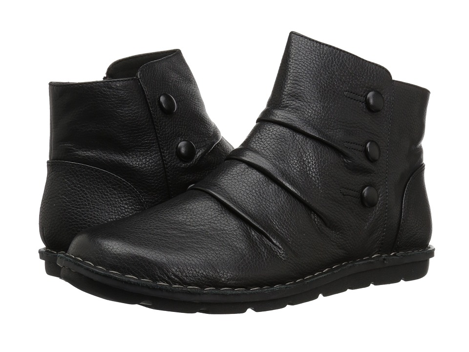 Clarks Janice Verna (Black Leather) Women's Shoes
