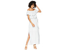 1.STATE Off Shoulder Ruffle Edge Maxi Dress