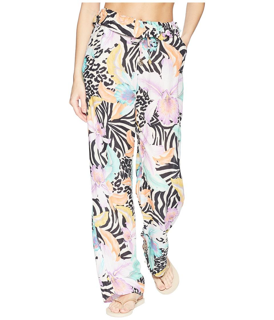 Luli Fama - Buena Vista Paper Bag Pant (Multi) Womens Swimwear