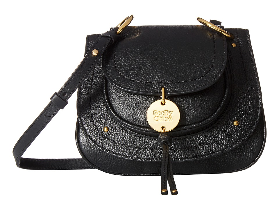 See by Chloe Susie Mini Leather Crossbody (Black) Cross Body Handbags