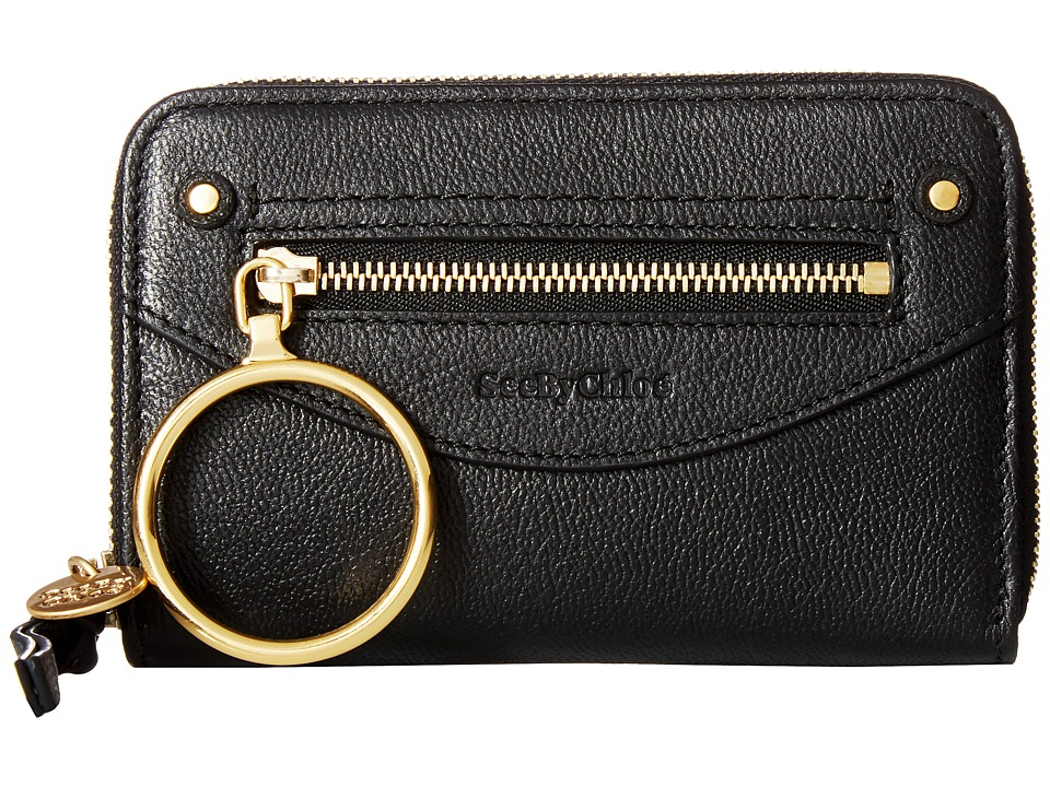 See by Chloe Miya Wallet (Black) Wallet Handbags
