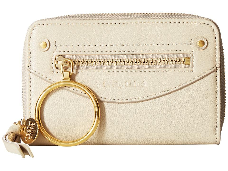 See by Chloe Miya Wallet (Cement Beige) Wallet Handbags