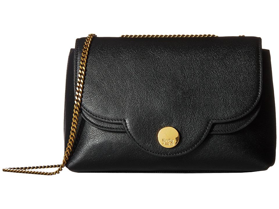 See by Chloe Polina Leather Crossbody Bag (Black) Cross Body Handbags
