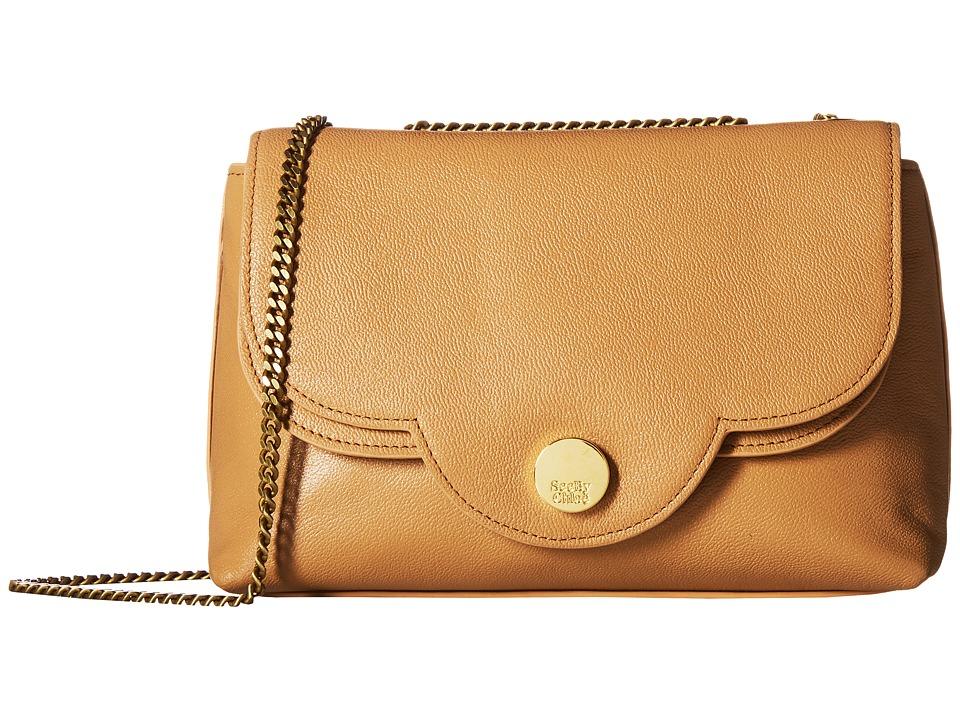 See by Chloe Polina Leather Crossbody Bag (Smooth Tan) Cross Body Handbags