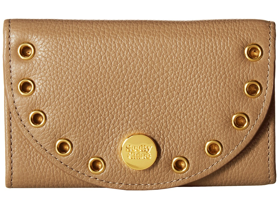 See by Chloe Kriss Wallet Compact Wallet (Nomad Beige) Wallet Handbags