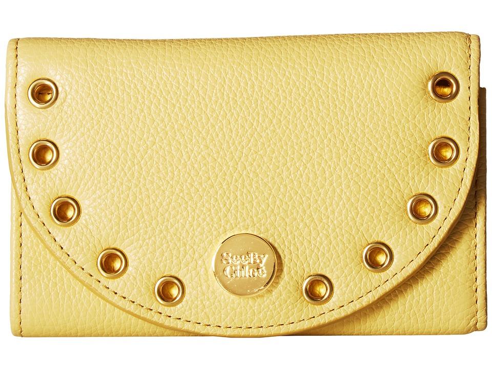 See by Chloe Kriss Wallet Compact Wallet (Pineapple Yellow) Wallet Handbags