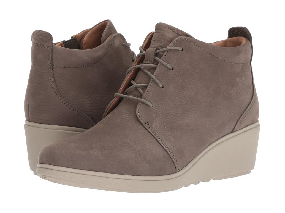 Clarks Un Tallara Eva (Taupe Nubuck) Women's Shoes