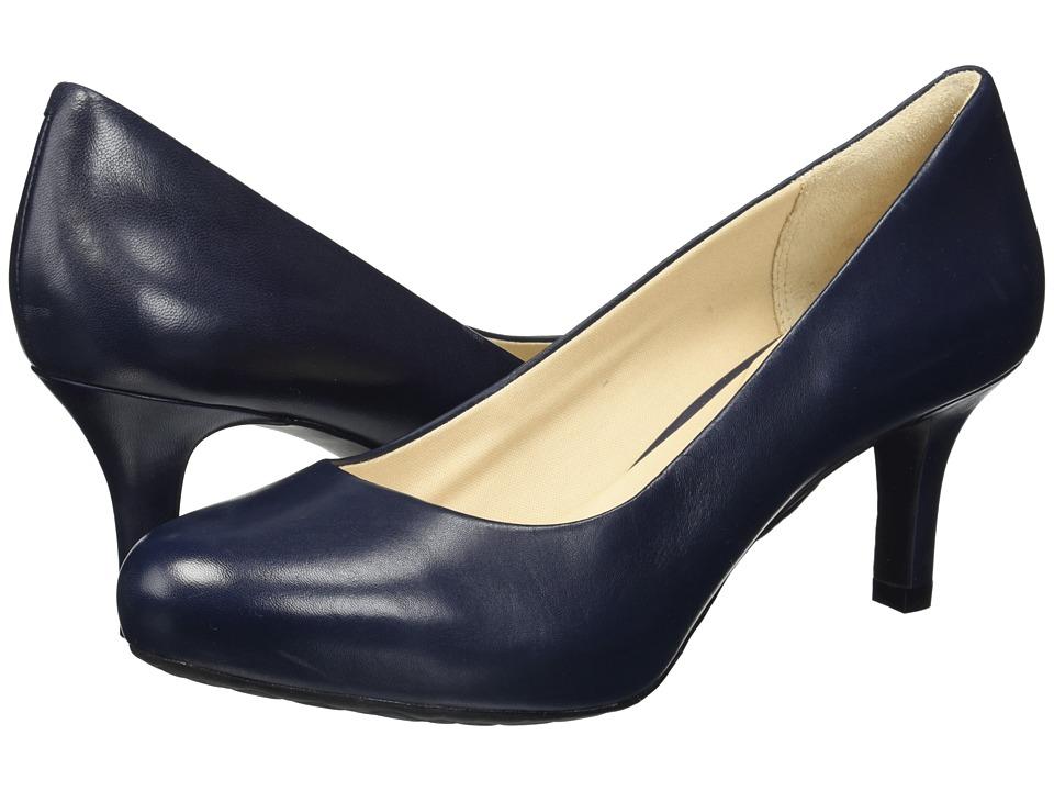 Rockport Seven to 7 Low Pump (Dark Sapphire Leather) High Heels