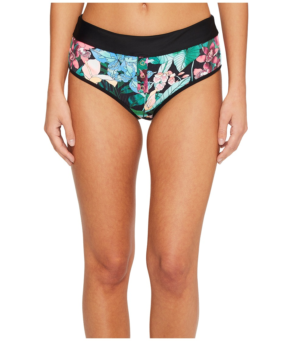 Body Glove - Selva Retro Bikini Bottom (Black) Womens Swimwear