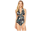 Kate Spade New York Playa Carmen Knotted Halter One-Piece Swimsuit