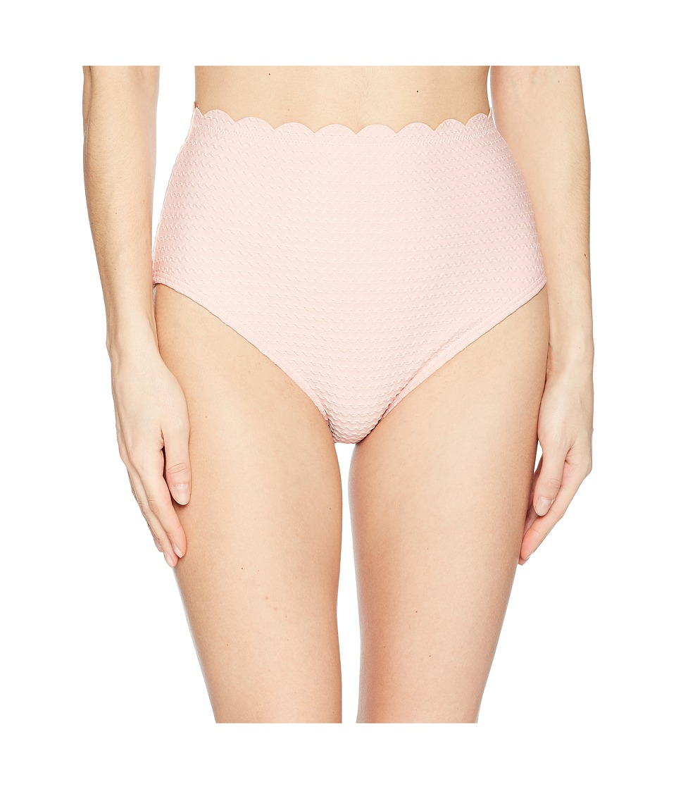 Kate Spade New York Marina Piccola Textured Scallop High-Waist Bottom S85179-687