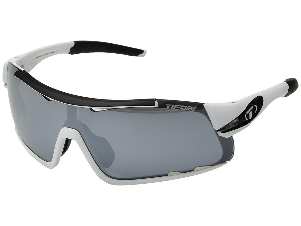 Tifosi Optics Davos (White/Black) Athletic Performance Sport Sunglasses