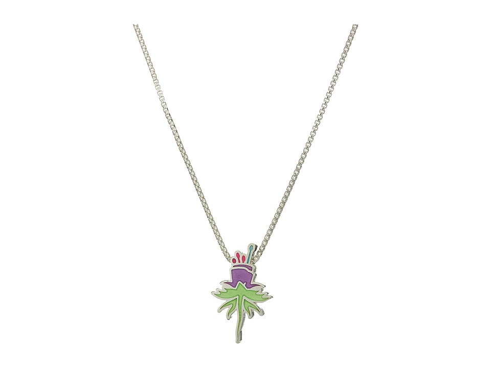 Alex and Ani - Wrinkle In Time - Purple Uriel Flower 18 Inch Adjustable Necklace (Sterling Silver) Necklace