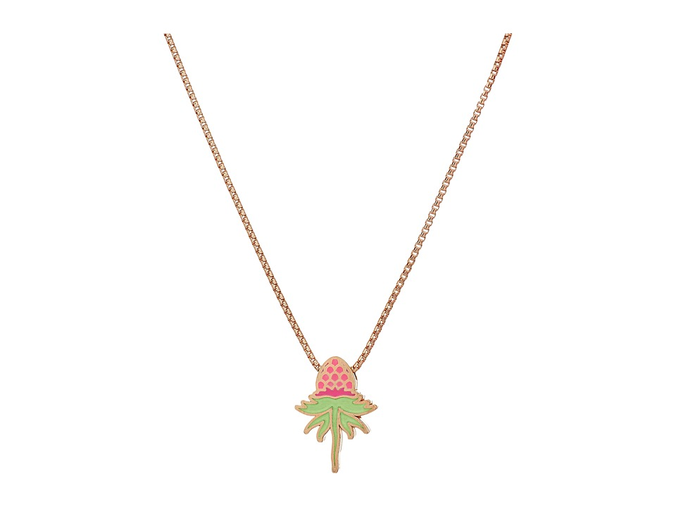 Alex and Ani - Wrinkle In Time - Pink Uriel Flower 18 Inch Adjustable Necklace (14KT Rose Gold Plated) Necklace