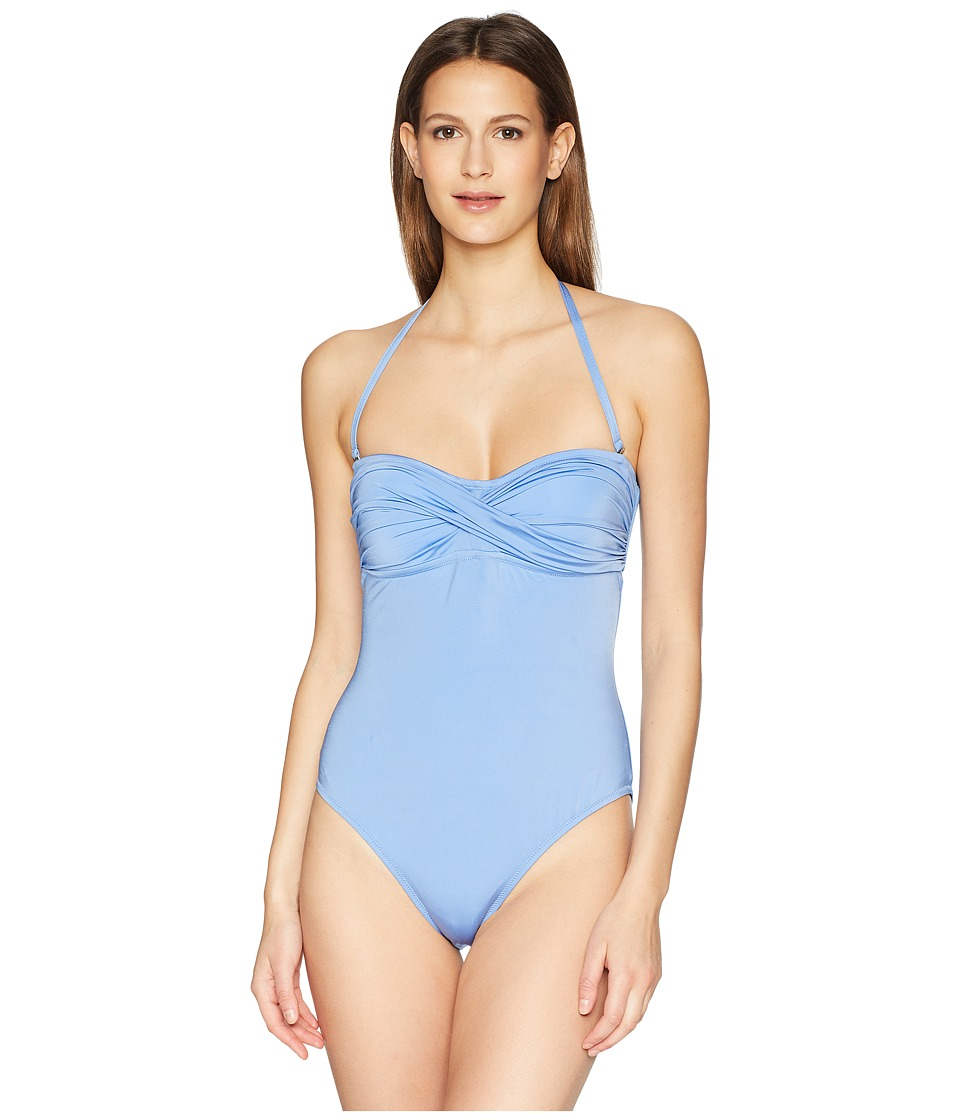Letarte - Twist Front One-Piece (Azure) Womens Swimsuits One Piece