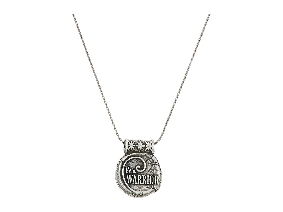 Alex and Ani - Wrinkle In Time - Be A Warrior Expandable Necklace (Rafaelian Silver) Necklace