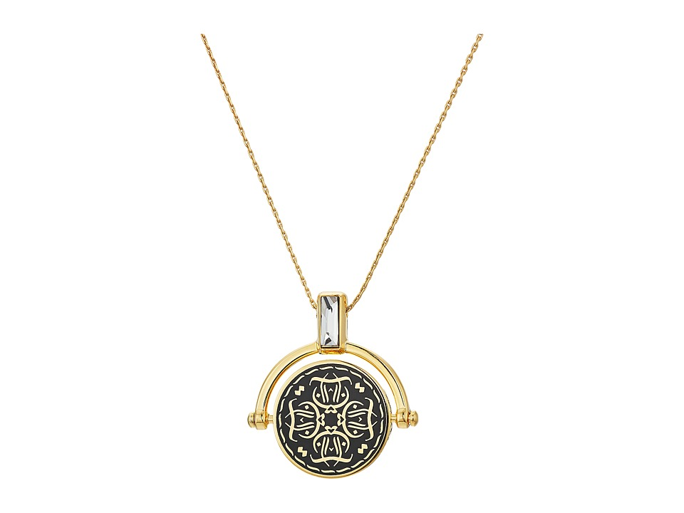 Alex and Ani - Wrinkle In Time - Believing Takes Practice Spinner Expandable Necklace (Shiny Gold) Necklace