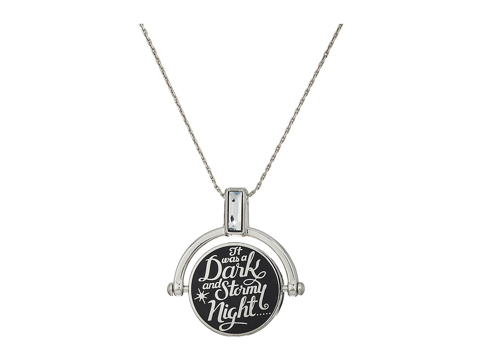 Alex and Ani - Wrinkle In Time - Dark and Stormy Night Spinner Expandable Necklace (Shiny Silver) Necklace