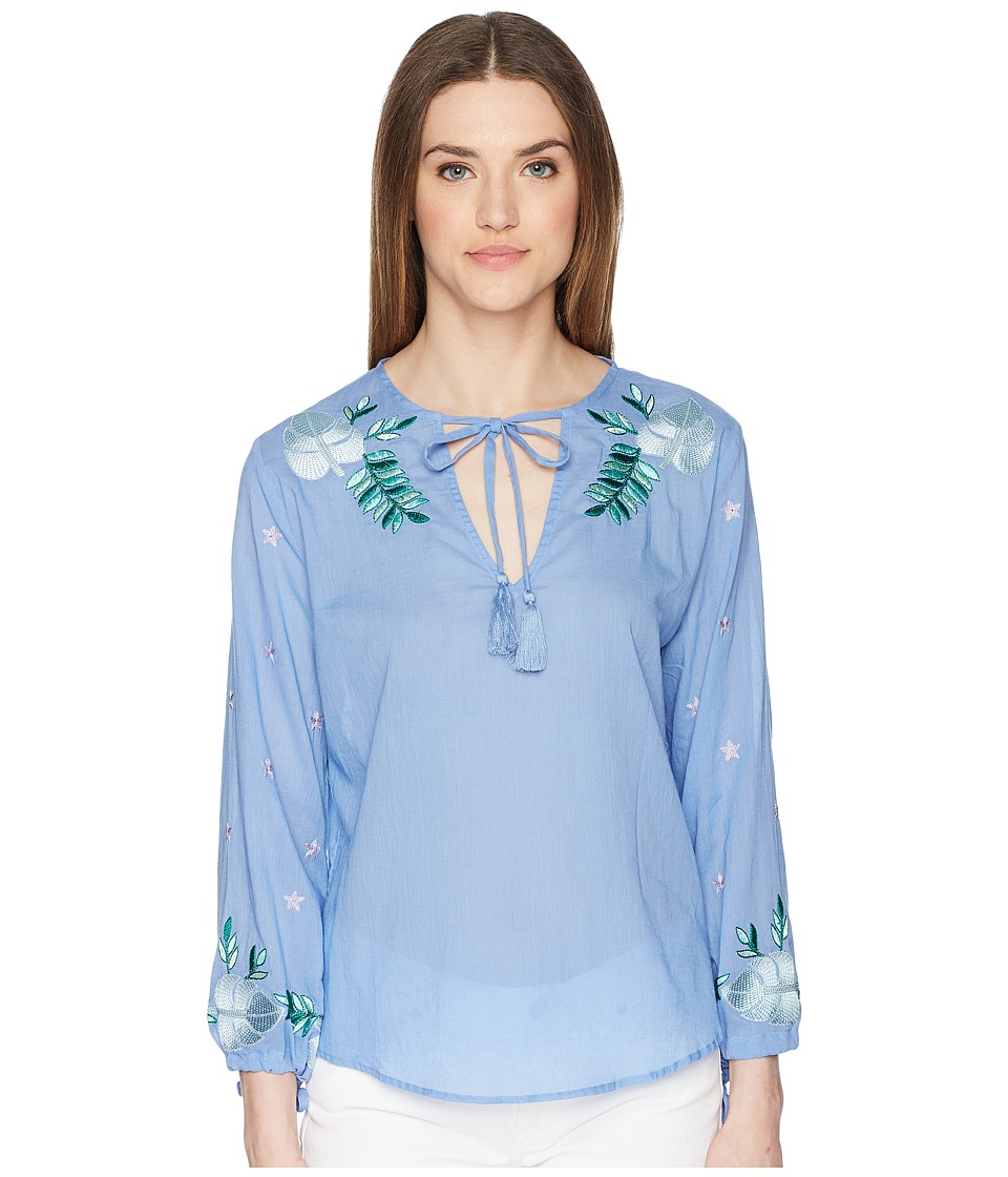 Letarte - Long Sleeve Top (Azure) Womens Swimwear