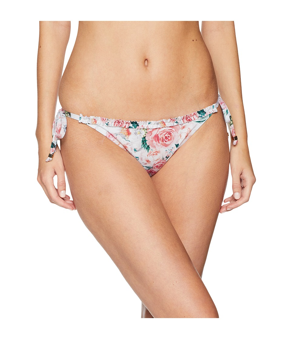 Letarte - Ruffle String Bottom (Pineapple Floral) Womens Swimwear