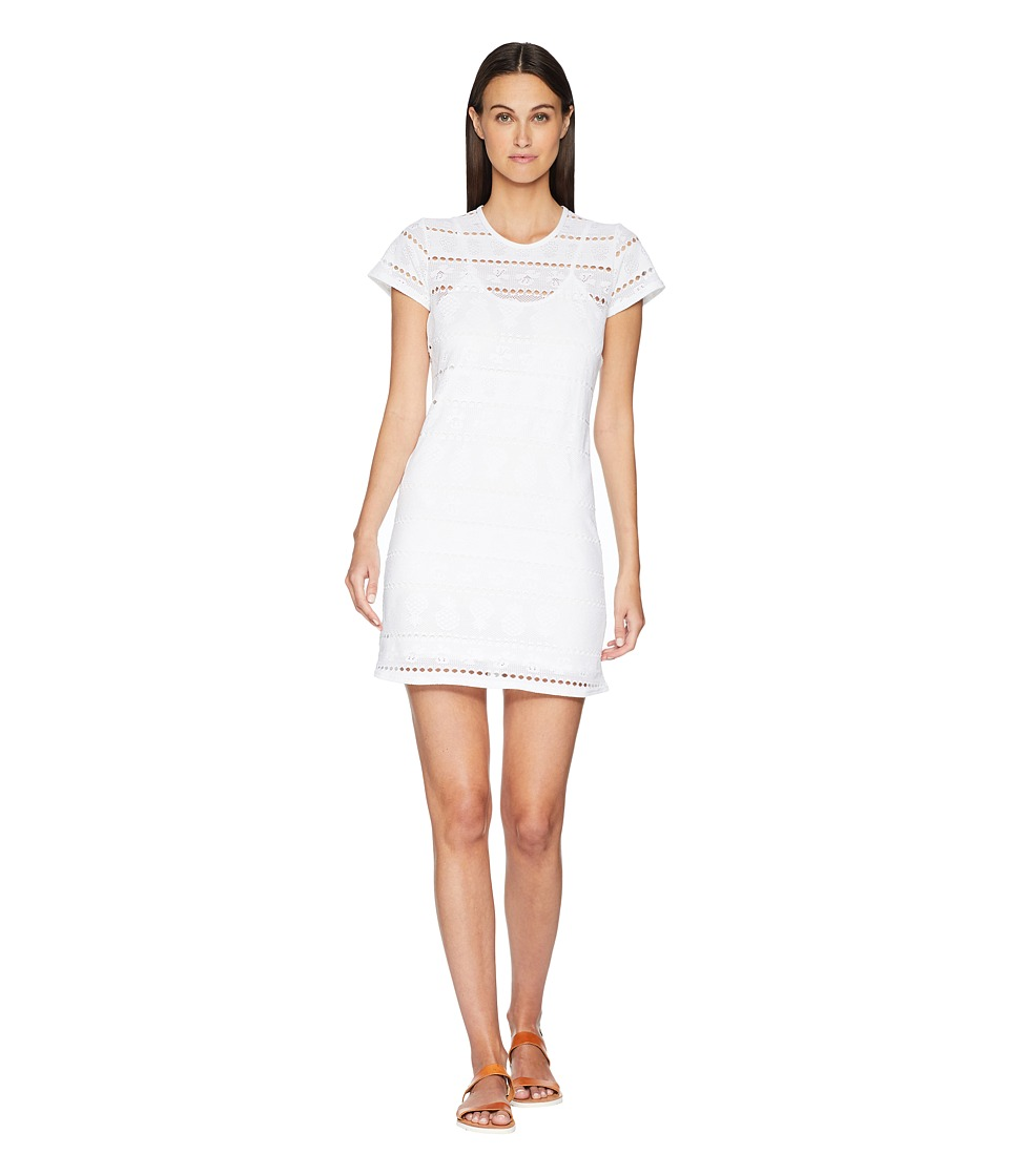 Letarte - T-Shirt Dress Cover-Up (White) Womens Swimwear