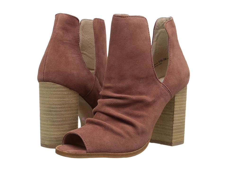 Kristin Cavallari Lash Peep Toe Bootie (Mauve Kid Suede) Women's Shoes