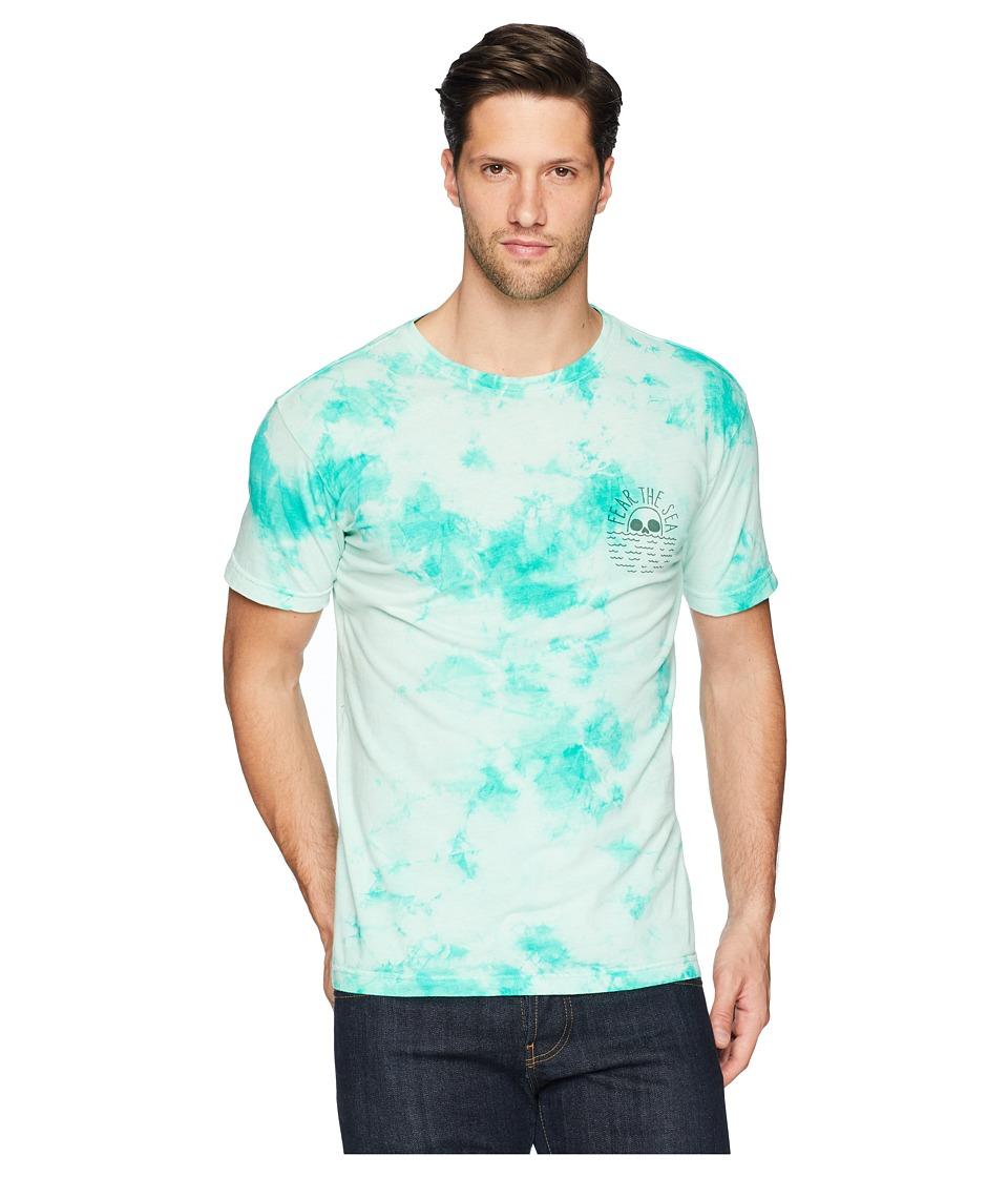Roark - Fear The Sea Tie-Dye Tee Shirt (Aqua) Mens T Shirt