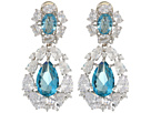 Nina Small CZ Cluster Teardrop Clip Earrings
