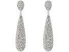 Nina Elongated Pave Teardrop Earrings; Elements By Swarocski