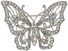 Nina Open Work Pave Butterfly Brooch