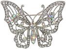Nina Nina Open Work Pave Butterfly Brooch