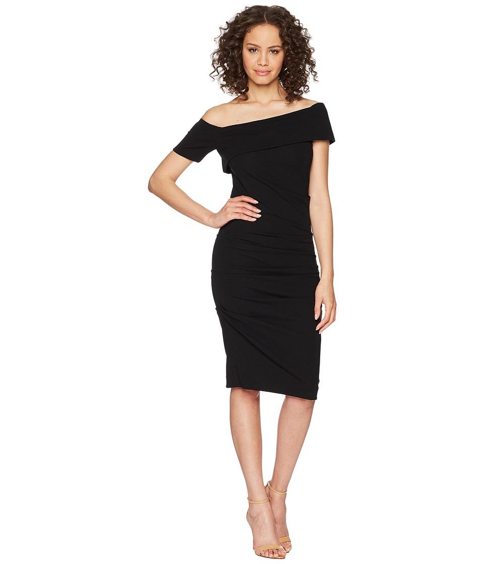 Nicole Miller - Off Shoulder Dress (Black) Womens Dress