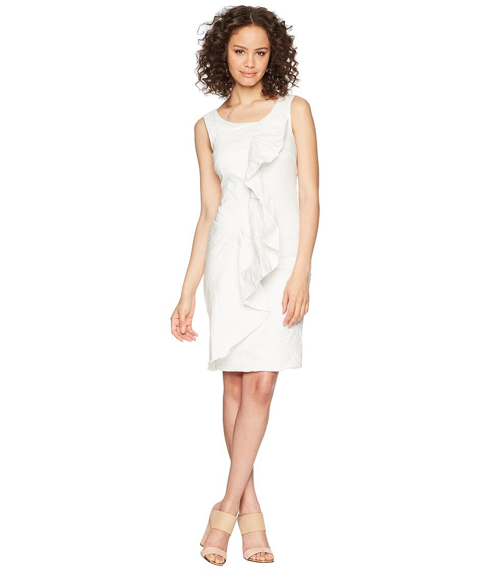 Nicole Miller - Ruffle Dress (White) Womens Dress
