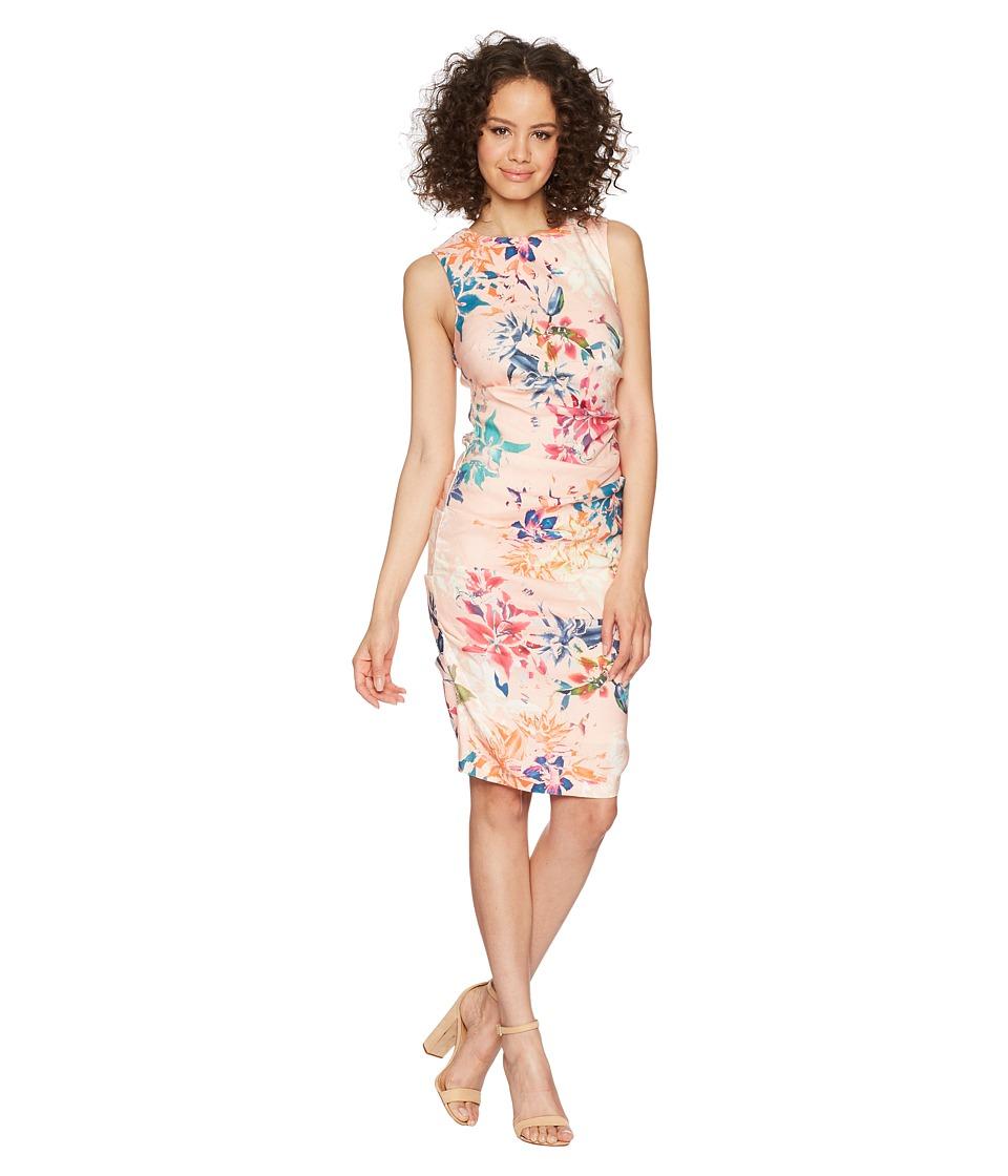 Nicole Miller - Lauren Sheath Dress (Blush Multi) Womens Dress