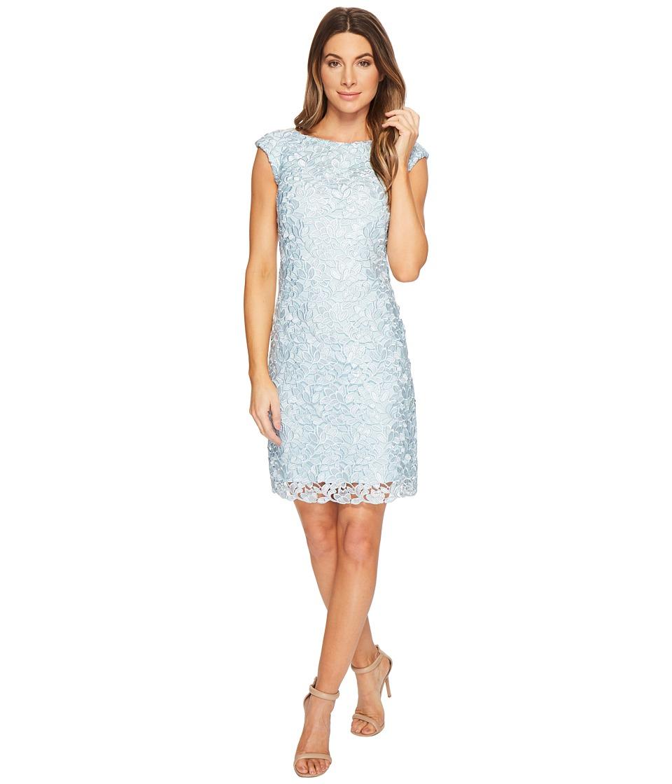 LAUREN Ralph Lauren - Montague Skylar Floral Dress (Pale Blue Multi) Womens Dress