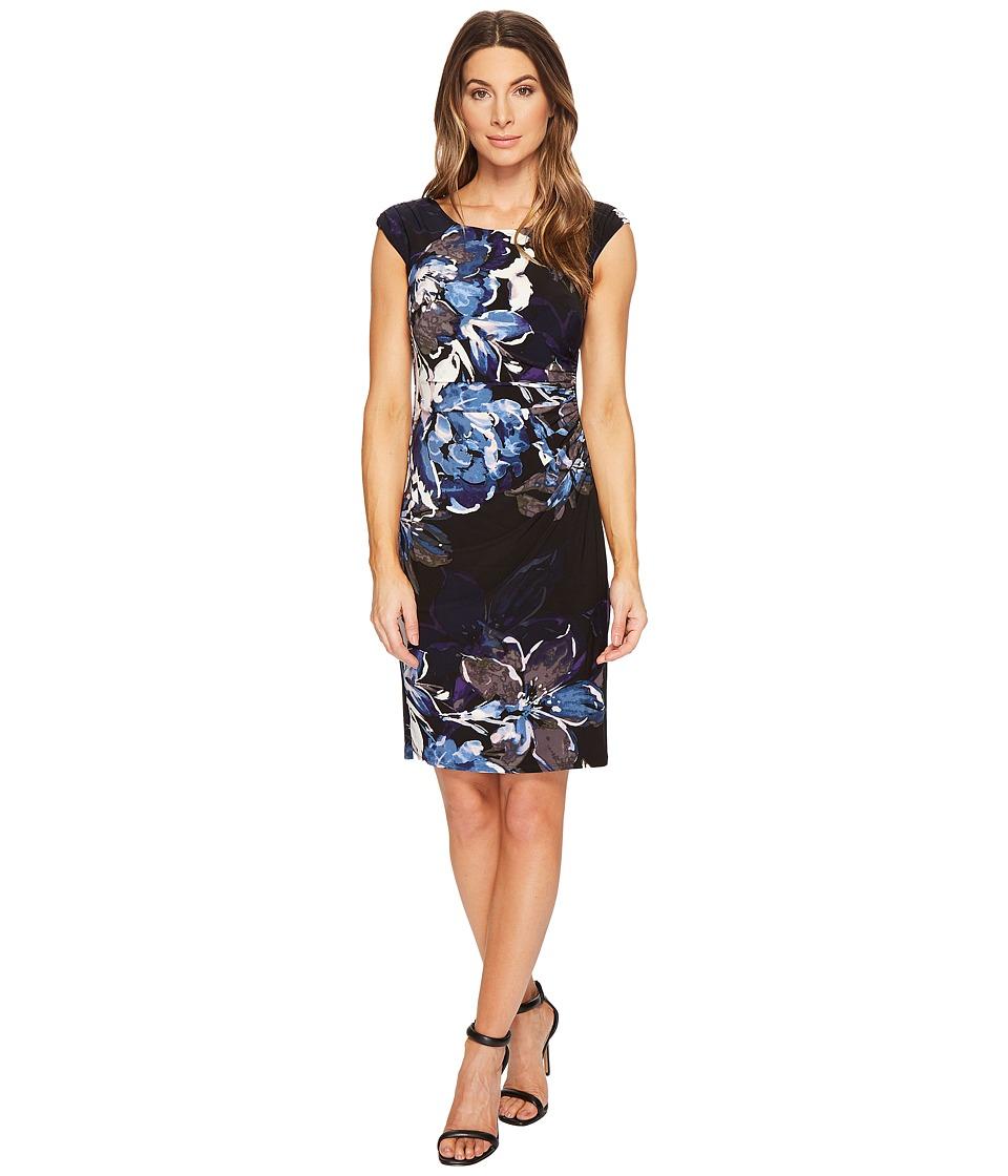 Ralph Lauren Koriza Patras Floral Dress (Black/Blue/Multi...