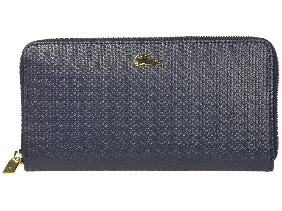 Lacoste - Chantaco Large Zip Wallet (Peacoat 1) Wallet Handbags