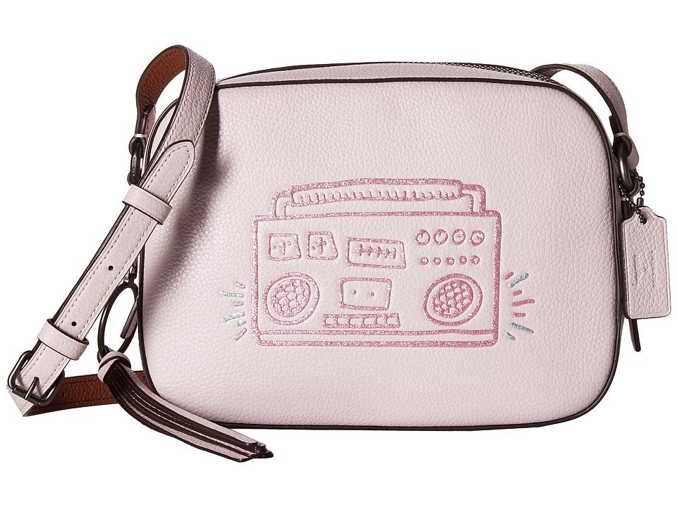 COACH Keith Haring Camera Bag (Bp/Ice Pink) Bags