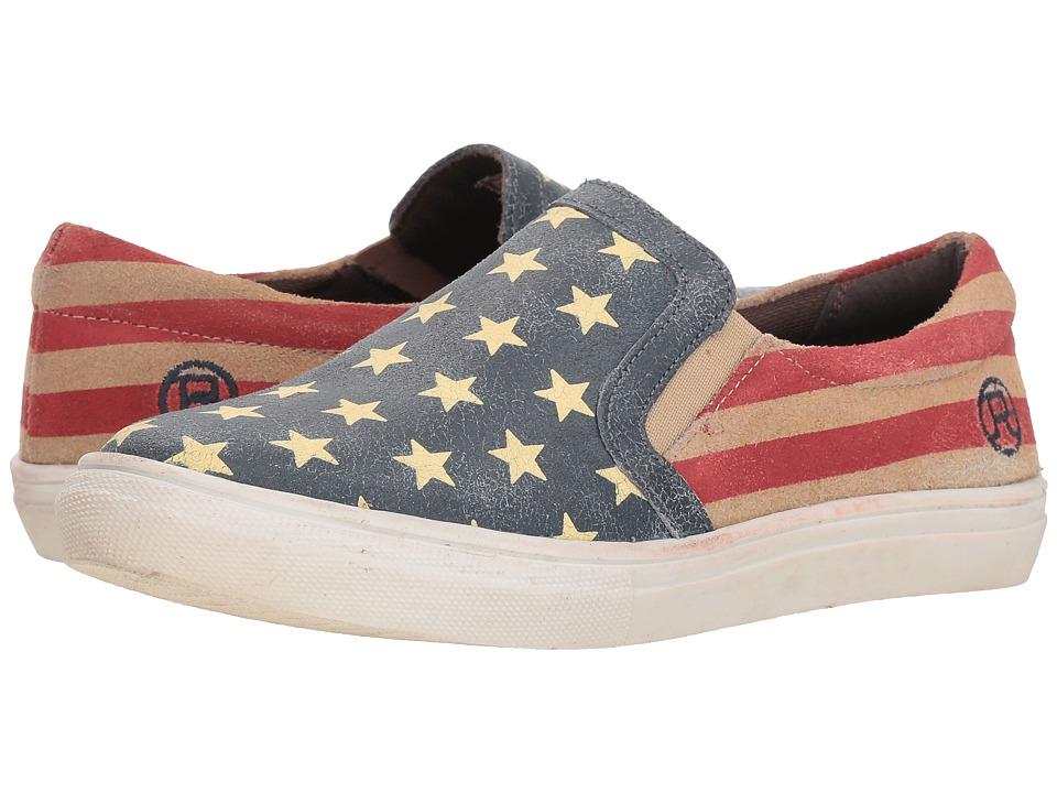 Roper American Beauty Slip-On (Stars & Stripes Sanded Leather) Slip-On Shoes