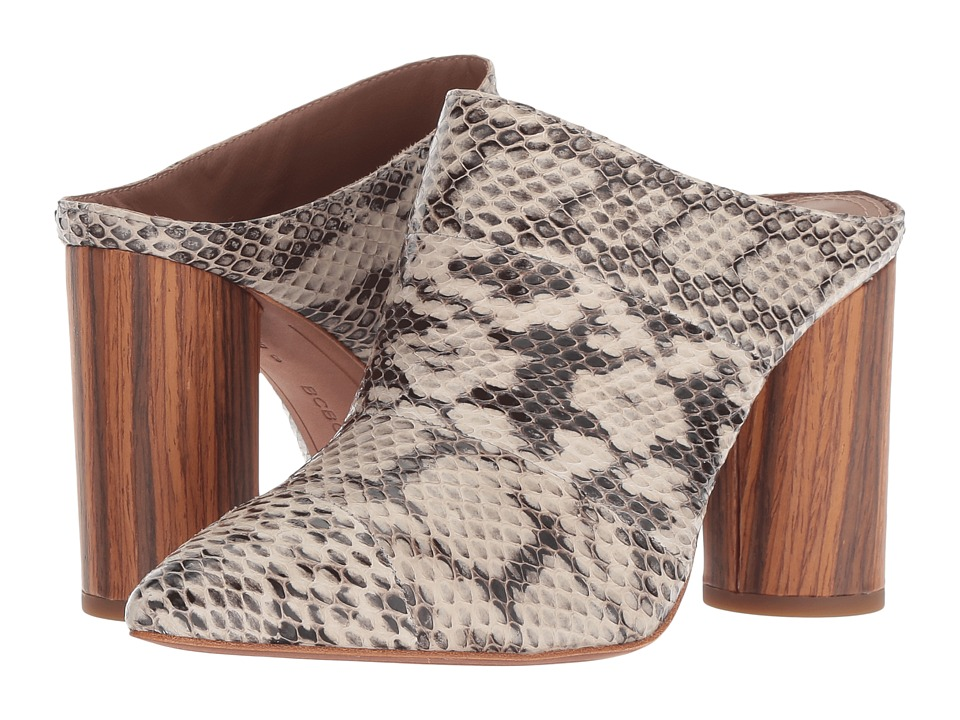 BCBGeneration BCBGMaxazria - Antonia (Natural Snake) Women's Clog/Mule Shoes