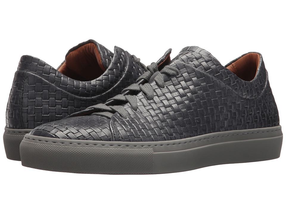 Aquatalia Alaric (Medium Grey Embossed Leather) Men's Lace up casual Shoes