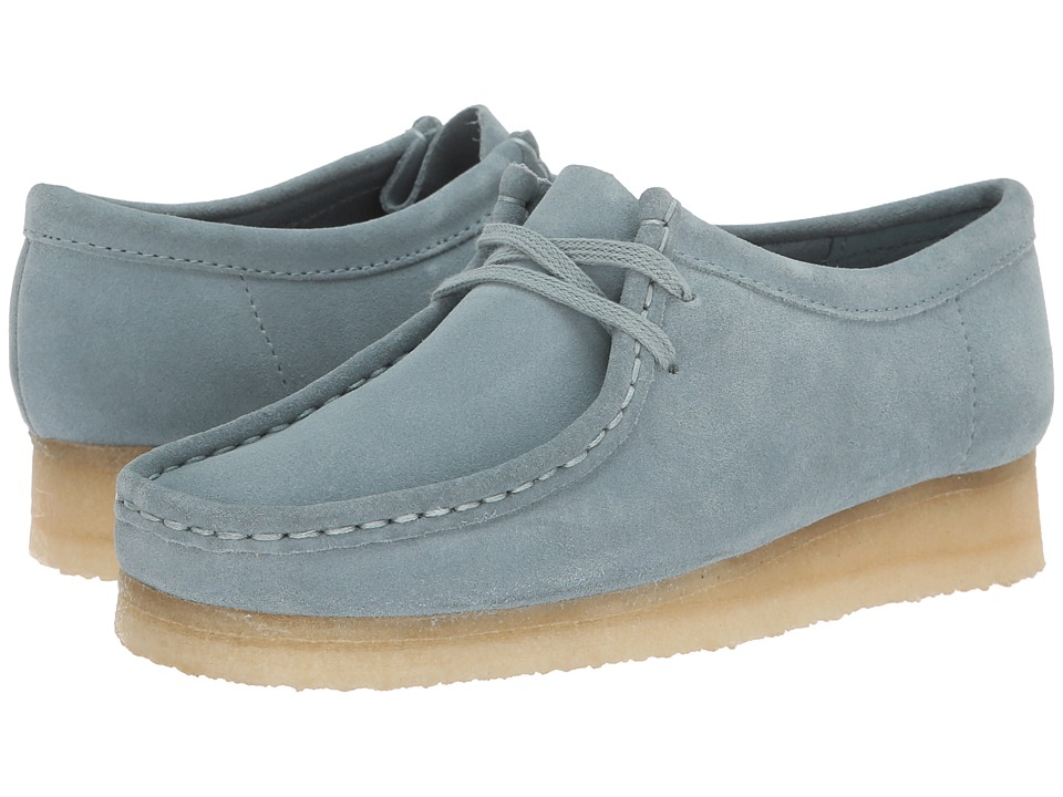 Clarks Wallabee (Blue/Grey Suede)