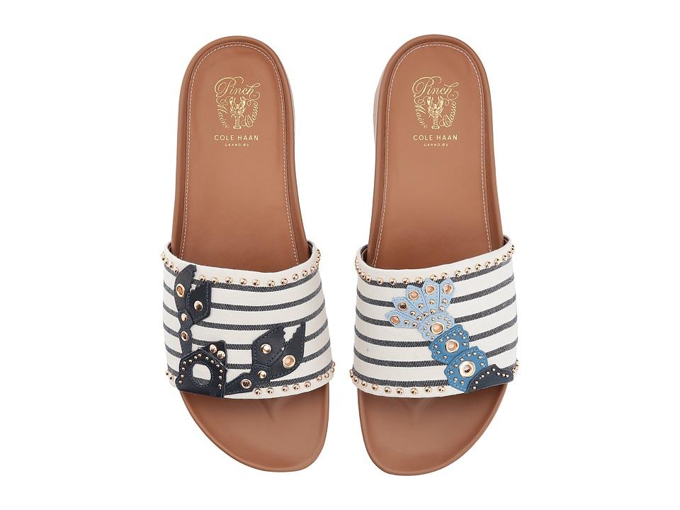 Cole Haan Pinch Lobster Sandal (Navy Ink/Ivory Stripe) Women