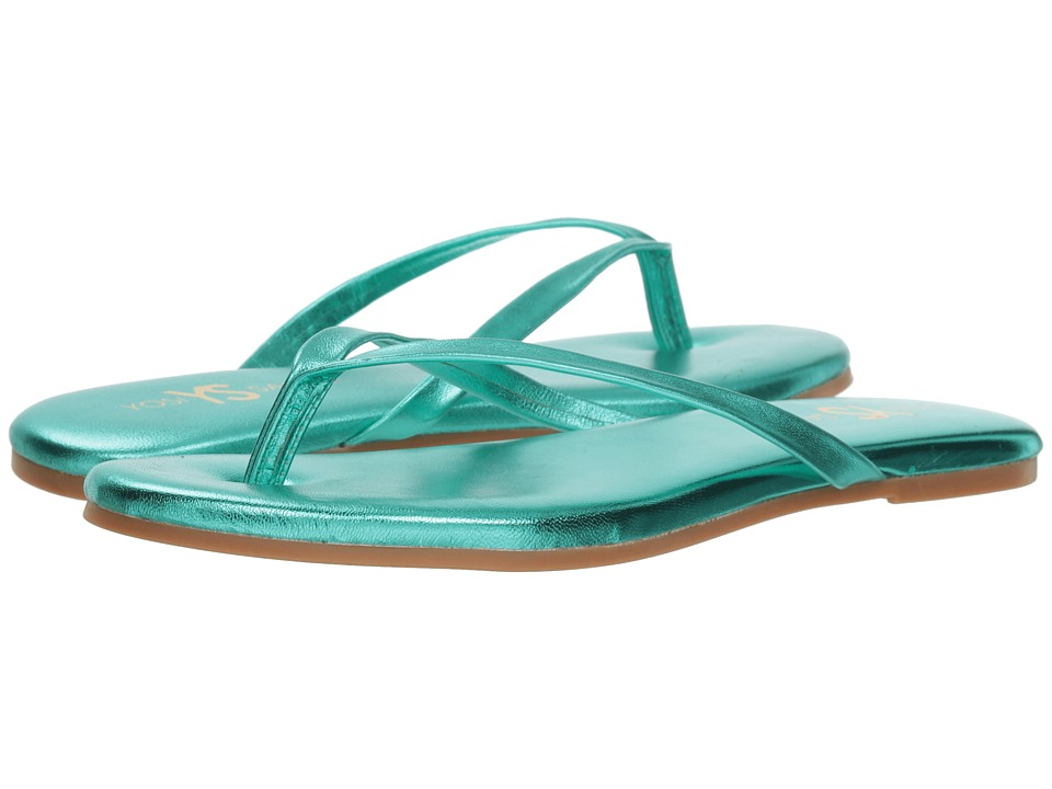 Yosi Samra Rivington (Seafoam Metallic Leather) Flats
