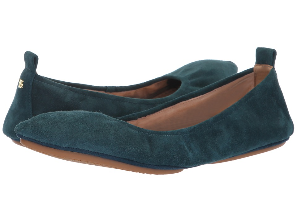 Yosi Samra Vince (Teal Suede) Women's Shoes